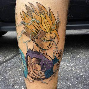 Gohan Tattoo by Will Walker #Gohan #DragonBall #Manga #WillWalker #gohantattoo