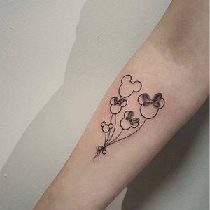 Subtle Disneyland tattoo by Michela Bottin. #disney #disneyland #castle #waltdisney #MichelaBottin #mickeymouse