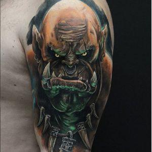 Timur Rumit's (IG—rumittattoo) astounding portrait of Garrosh Hellscream from Warcraft. #Blizzard #GarroshHellscream #TimurRumit #Warcraft