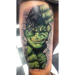 #GustavoGomes #brasil #brazil #tatuadoresdobrasil #brazilianartist #realismo #realism #Hulk #marvel