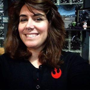 Tattooist Brandi Smart in the coolest cardigan ever. #BrandiSmart #JonathanStrickalnd #JWST #MaggieMasetti #NASA #space #telescope