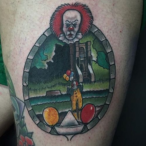 Pennywise the clown from IT. By Shane Murphy. #StephenKing #IT #Pennywise #clown #horror #ShaneMurphy