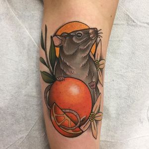 Rat Tattoo by James Cumberland #rat #neotraditionalrat #neotraditional #neotraditionalartist #traditional #JamesCumberland