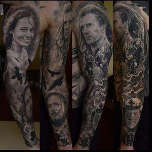 Braveheart Tattoo by Den Yakovlev #Braveheart #BraveheartTattoo #MelGibson as #WilliamWallace #Portrait #MoviePortraits #DenYakovlev