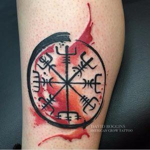 Graphic vegvisir tattoo by David Boggins #vegvisir #DavidBoggins #vikingcompass #viking #symbol #watercolor #graphic