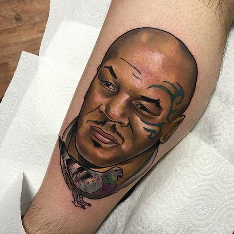 Mike Tyson Tattoo by Brenden Jones #MikeTyson #MikeTysonTattoo #BoxingTattoo #SportTattoos #Portrait #BrendenJones