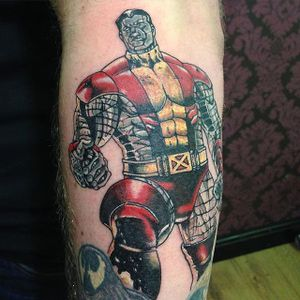 Colossus Tattoo by @thisoldskin #Colossus #XMen #MarvelTattoos #SuperheroTattoos