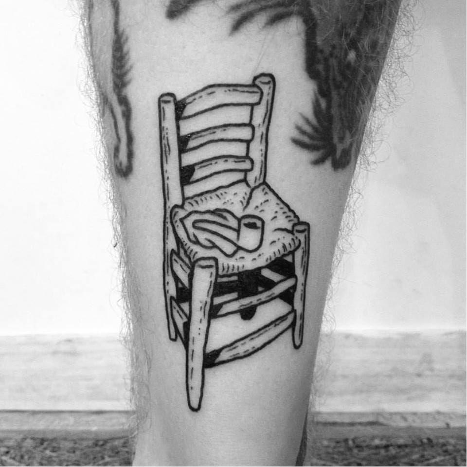 Matisse inspired tattoo by Dalas #Dalas #blackwork #cartoon #comics #popart #surrealistic
