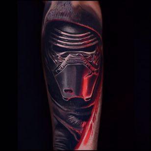 Kylo Ren tattoo by Ben Ochoa. #BenOchoa #colorrealism #popculture #kyloren #starwars