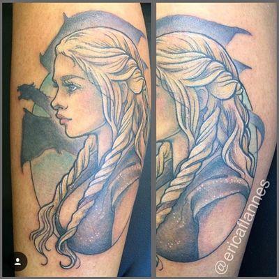 Daenerys Targaryen by Erica Flannes (IG-ericaflannes) #daenerystargaryen #khaleesi #gameofthrones #EricaFlannes #neotraditional