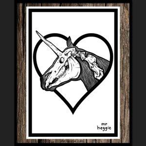 Unicorn Taxidermy by Mr Heggie. #mrheggie #art #unicorn