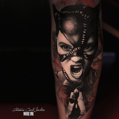 Mulher-Gato #ThomasCarliJarlier #realismo #realism #portrait #retrato #fotorrealismo #blackandgrey #pretoecinza #photorealism #mulhergato #catwoman #dc #batman #hq #cartoon #comic #gato #cat #SelinaKyle #woman #mulher #girl #garota #abstrato #abstract
