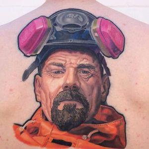 Walter White - Instagram: @tattooalgarcia #WalterWhite #celebritytattoo #portrait #BreakingBad #celebrityportrait