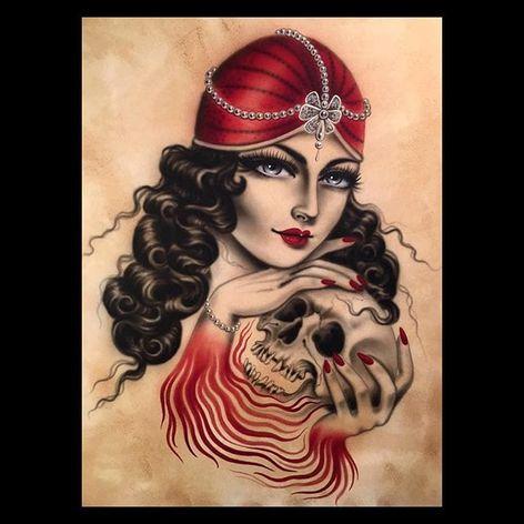 Art by Rose Hardy (via IG-rosehardy) #ladyhead #fineart #art #detailed #color #rosehardy