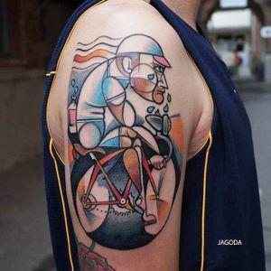 Bike tattoo by Jagoda. #bike #fixie #biker #cyclist #biking #sport #semiabstract