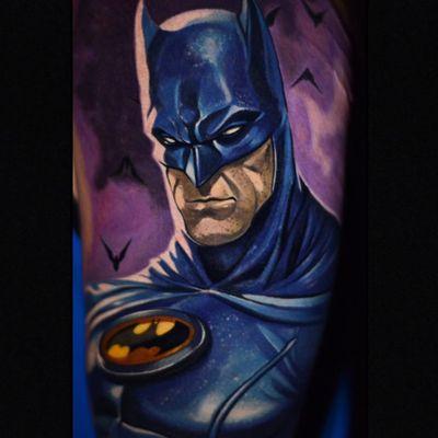 The Dark Knight by Ben Ochoa (IG—ben_ochoa). #Batman #BenOchoa #color #comicbooks #DC #portraiture