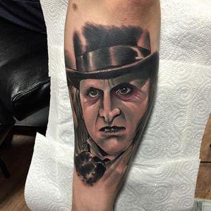 Penguin Tattoo by Brenden Jones #Penguin #NeoTraditional #NeoTraditionalPortrait #Portrait #PopCulture #BrendenJones