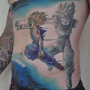 Gohan Tattoo by Steve Butcher #Gohan #DragonBall #Manga #SteveButcher #gohantattoo