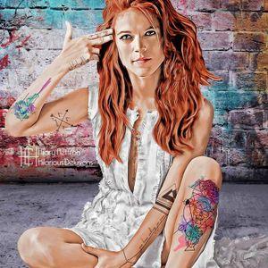 by Hilary Heffron/Hilarious Delusions #tattooedcharacters #tvshow #gameofthrones #GOT #digitalartist
