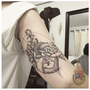 Coração estilzado #ApolonioLuz #tatuadoresbrasileiros #tatuadoresdobrasil #sketchtattoo #blackwork