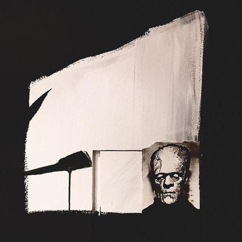 Painting by Cold Gray #ColdGray #blackandgrey #painting #abstract #FranzKline #Frankenstein #Frankensteinsmonster #monster #horror #portrait