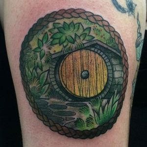 Lord of the Rings / Hobbit tattoo by Becci Boo #BecciBoo #TheHobbit #LOTR #theshire #bilbobaggins #lordoftherings