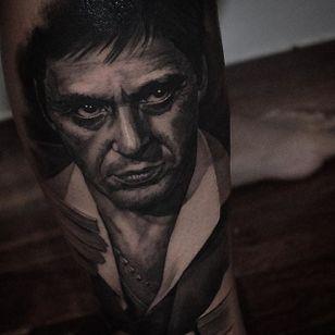 Tony Montana from Scarface. By Ben Thomas. #realism #blackandgrey #blackandgreyrealism #portrait #BenThomas #TonyMontana #Scarface #AlPacino