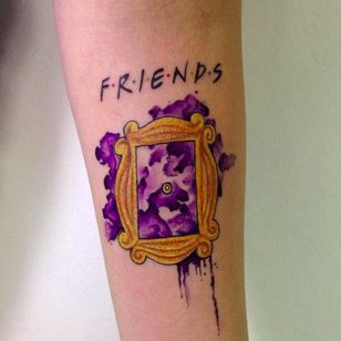 Just in case you don't know what this is a reference to (which I do not), they put the show's logo above the piece to let you know. #friends