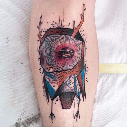 #Schwein #tatuadorgringo #coloridas #colorful #sketch #abstrata #abstract #coruja #owl
