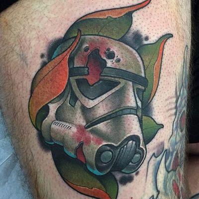 Aquele Stormtrooper calejado! #DavidTevenal #comics #quadrinhos #hq #nerd #geek #coloridas #colorful #starwars #stormtrooper