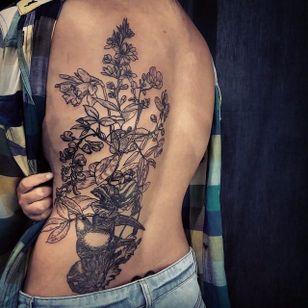 Organic blackwork style tattoo by Jared Asalli. #JaredAsalli #SoutheastAsia #Singapore #organic