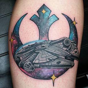 Rebel Alliance Tattoo by Adrian Aldaco #RebelAlliance #RebelAllianceTattoo #StarWarsTattoo #ForceAwakens #StarWars #AdrianAldaco