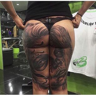 Now that's a blasted ass! (via IG -- ob305_lac) #assblaster #butttattoo