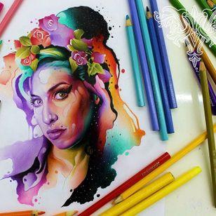 #AmyWinehouse #blues #musica #music #aquarela #watercolor #vareta #ilustradorvareta #coloridos #brasil #brazil #portugues #portuguese #desenhos #drawing