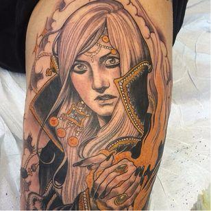 Gorgeous tattoo by Jurgen Eckel #JurgenEckel #neotraditional #lady