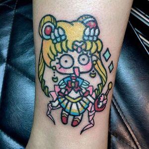 Derp Sailor Moon tattoo by Pikkapimingchen. #Pikkapimingchen #cartoon #cute #graphic #sailormoon #kawaii