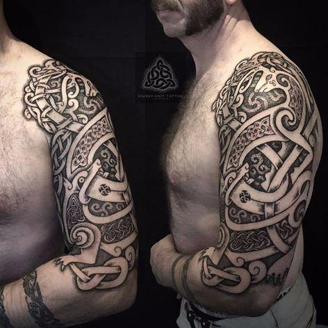 Tatuagem celta #SeanParry #viking #nordic #nordico #vikingstyle #tatuagemviking #culturanordica #mitologianordica #celtictattoo