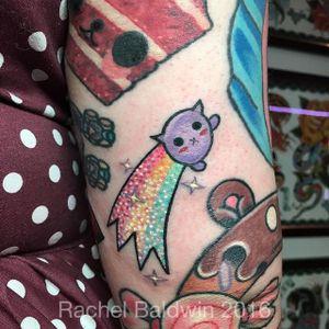 Rainbow tattoo by Rachel Baldwin. #kawaii #rainbow #lgbt #love #positivity #RachelBaldwin