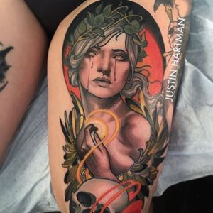 Neo Traditional Tattoo by Justin Hartman #NeoTraditional #NeoTraditionalTattoos #NeoTraditionalArtists #BestArtists #BestTattoos #AmazingTattoos #JustinHartman