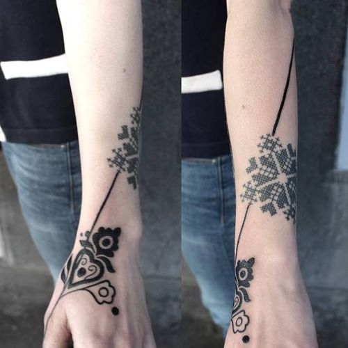 Elegant tattoo by Adine Tetovacky #AdineTetovacky #ornamental #graphic #pattern