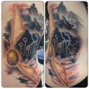 Dementor Tattoo by Emma Dixon #Dementor #DementorTattoo #HarryPotterTattoos #HaryPotterTattoo #HarryPotterInk #EmmaDixon
