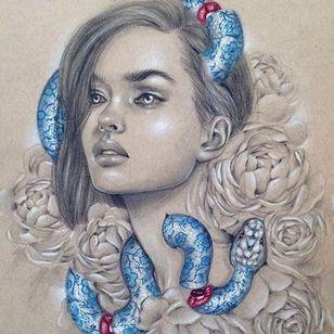 """Mind Games"" via @relmxx #Relm #ARTSHARE #painting #fineartist"