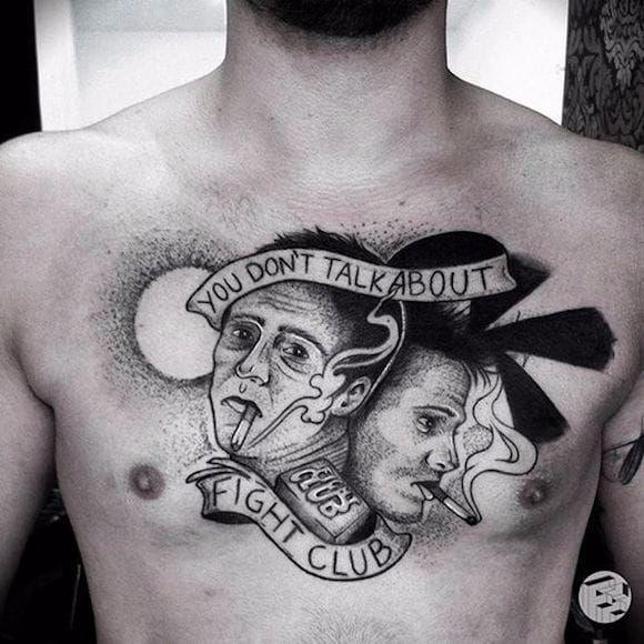 Por Farfalla Ink! #FarfallaInk #clubedaluta #FightClub #TatuadorasBrasileiras #BradPitt #EdwardNorton #DavidFincher #TylerDurden
