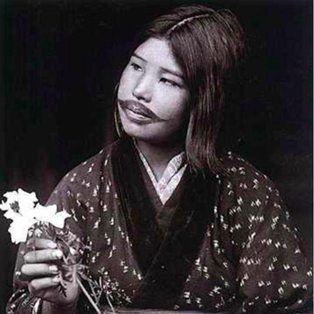Ainu woman, unknown photographer #Japanese #Tattooed #Ainu #Woman #Ainuwoman #Japan