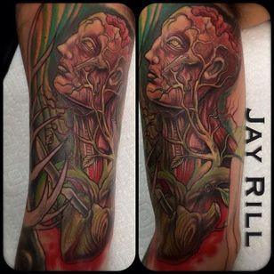Anatomical Head Tattoo by Jay Rill #anatomical #anatomicalhead #anatomy #scientific #JayRill