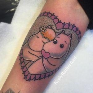 Moomin Heart Tattoo #Heart #HeartTattoos #Kawaii #CuteTattoos #KeelyRutherford