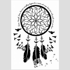 Original design by Nick Barbarian. #basic #meme #cliche #dreamcatcher #silhouette #anchor #birds #infinity