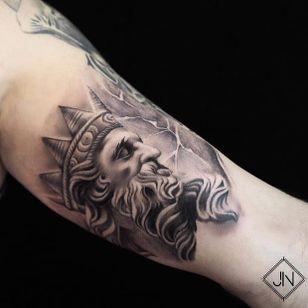 Zeus by Jefree Naderali (via IG-jefreenaderali) #surreal #blackandgrey #fine #jefreenaderali