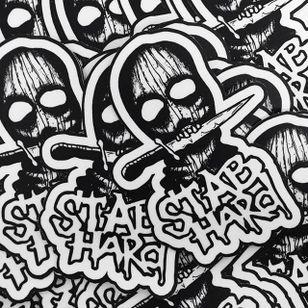Balaclava Stickers by Jeremy Boleyn #blackwork #blackink #darkart #balaclava #blackworkbalaclava #JeremyBoleyn