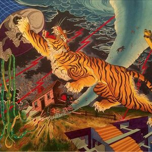 The trippiest tiger painting ever by Timothy Hoyer (IG—timothyhoyer). #fineart #intense #painting #TimothyHoyer